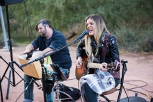 Singer and musician Laura Walsh sings during the ASU Open Door at Polytechnic Campus in Mesa, Ariz. on Friday evening January 26th, 2018.