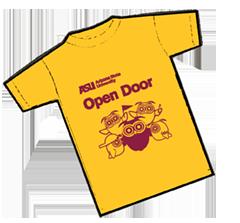 2019 ASU Open Door t-shirt